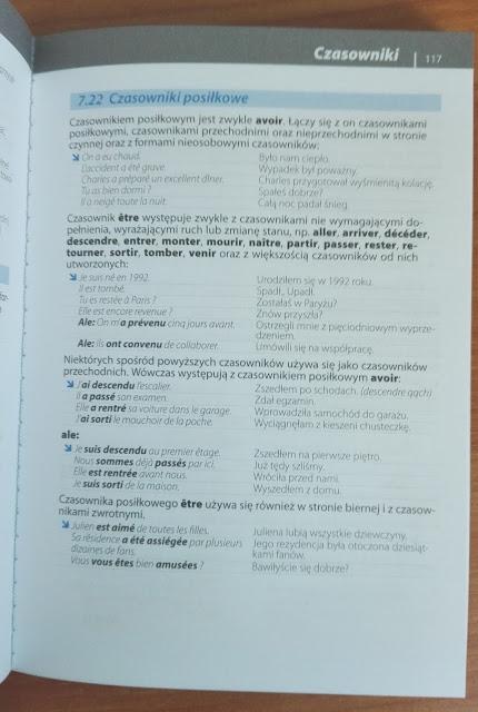 """Recenzje #4 - """"Gramatyka języka francuskiego"""" - przykładowa strona 1 - Francuski przy kawie"""