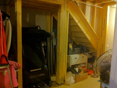 Houseonashoestring Unfinished Basement Decorating