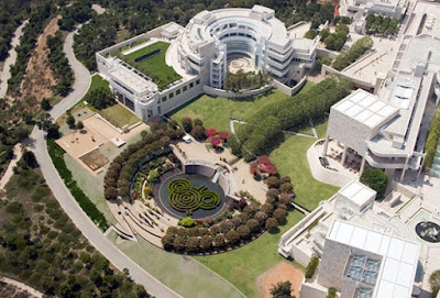 Bird's Eye View of the The Getty Museum and The Central Garden Grounds