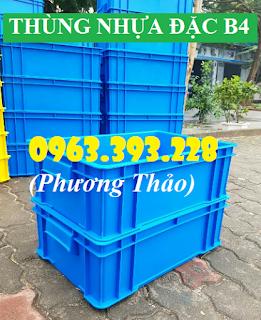 Hộp nhựa đặc B4, Thùng nhựa đặc cao cấp tại Hà Nội