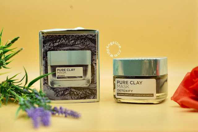 L'OREAL PARIS PURE CLAY MASK DETOXIFY DAN ILLUMINATING (REVIEW)
