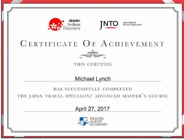 Certificate Japan Travel Specialist Master's Course