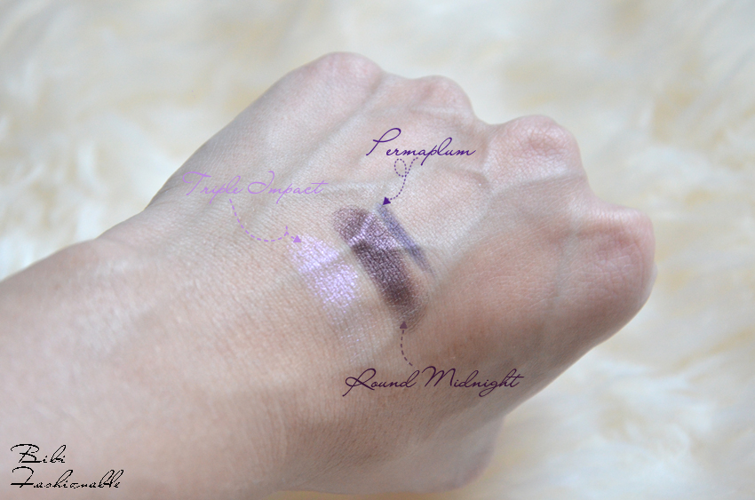 Keepsakes Plum Eye Bag Swatches