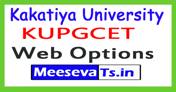 KUPGCET Web Options 2018