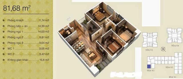 Căn 81,68 m2