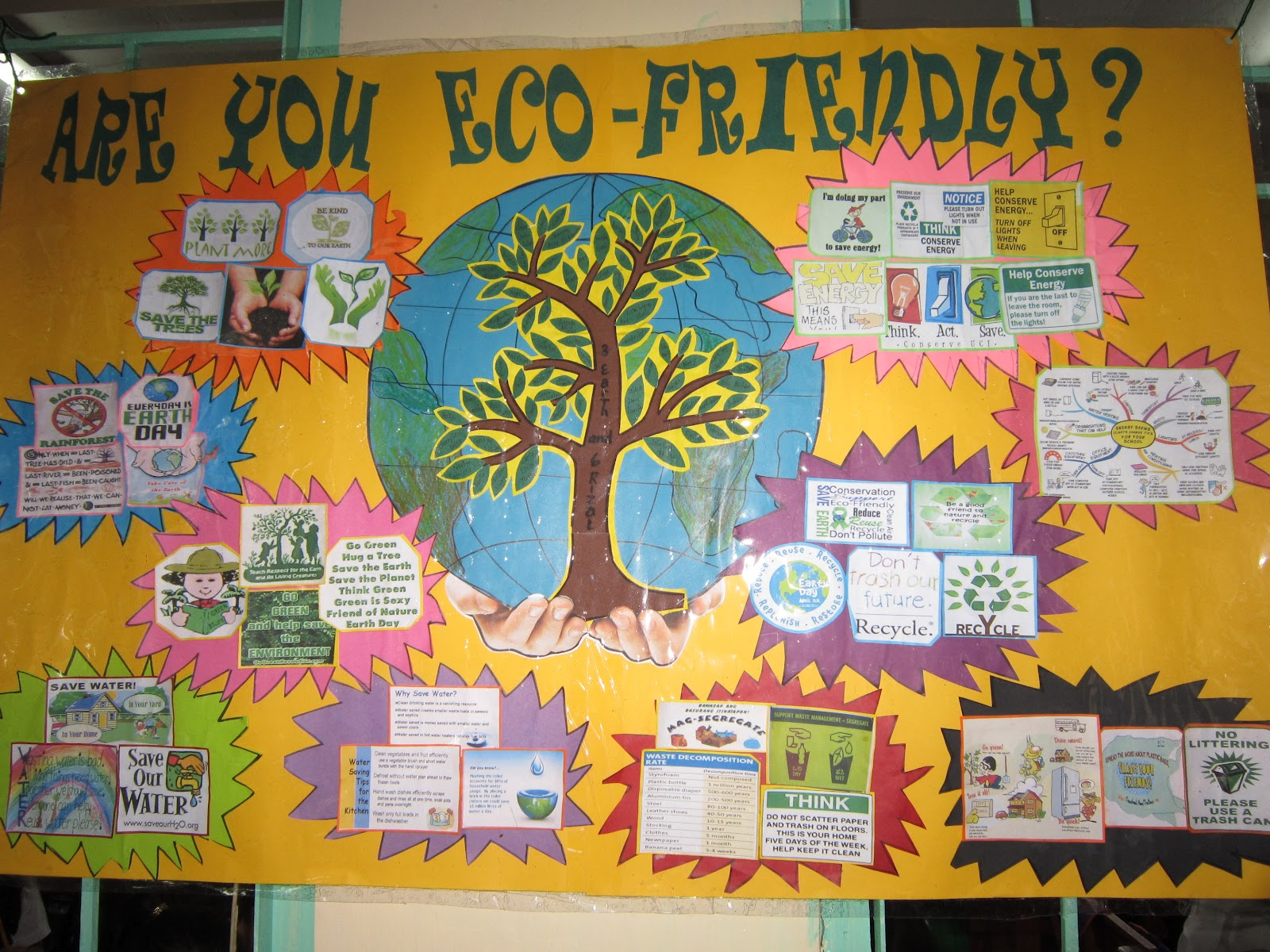 The Earth Is In Our Hands Eco Bulletins And Decorations
