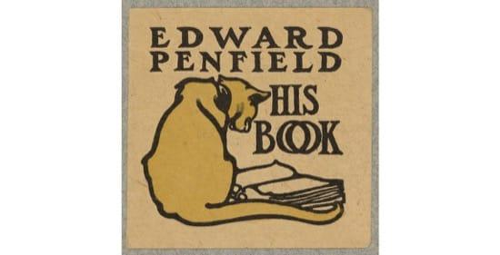 Ex libris diseñado pro Edward Penfield. Foto de principios del siglo XX