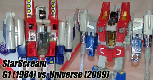 Transformers G1 Starscream vs. Universe Starscream bemutató