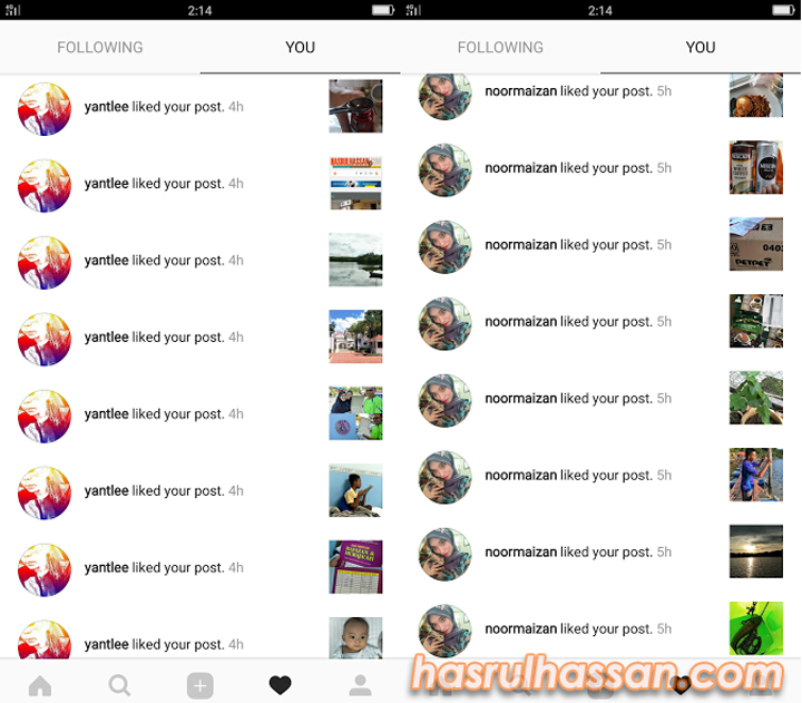 Diserbu Kaki Like Instagram
