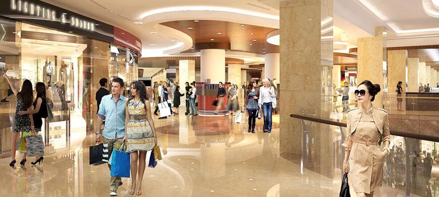 Khu trung tâm thương mại rộng lớn tại dự án chung cư Roman Plaza