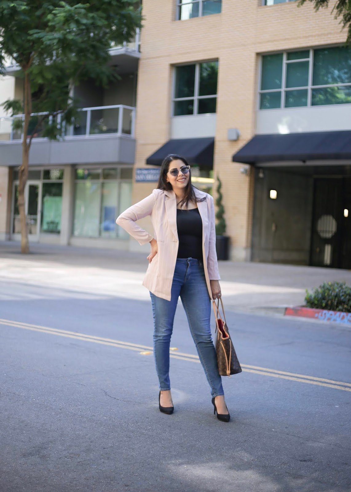 business casual outfit for women, working professional blogger, San Diego based fashion blogger