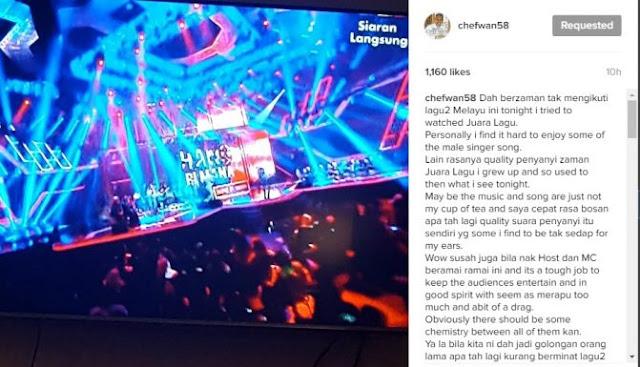 Host Merapu & Penyanyi Tiada Kualiti – Chef Wan Kecewa AJL31 Tak Macam Dulu