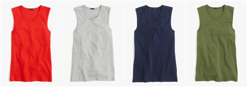 J. Crew perfect fit tanks for only $7.50 (reg $22.50)