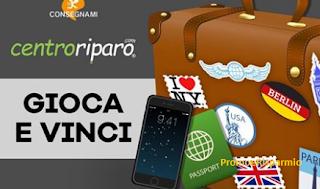 Logo Vinci gratis un viaggio per la famiglia con Centroriparo