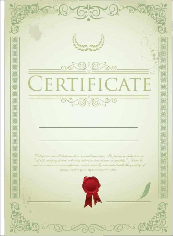 Certificate Templates PSD Certificate Templates