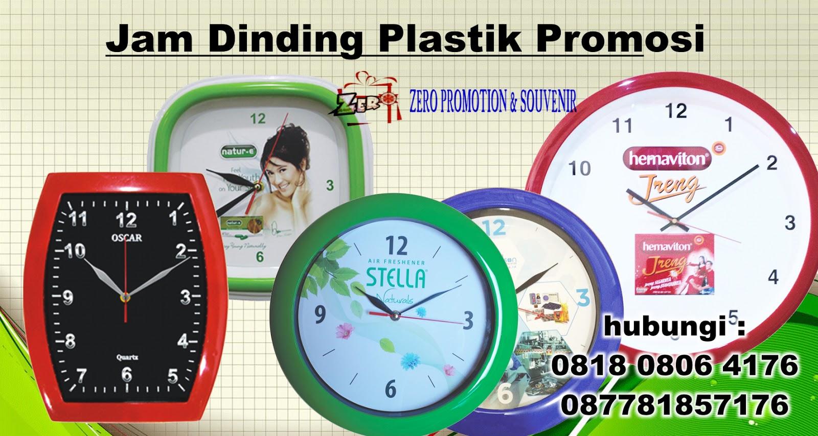 Produksi Jam Dinding Plastik Promosi  f33a0d8d04