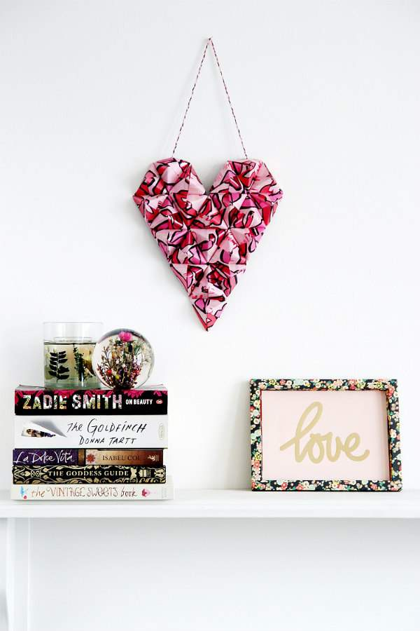 Origami Heart Wall Hanging