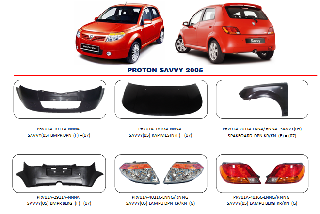 Bemper Proton Savvy 2005-2007