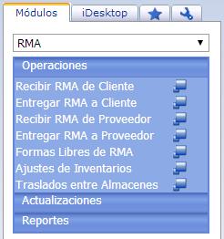 Módulo de RMA - Productos Web de eFactory: ERP/CRM, Nómina, Contabilidad, Punto de Venta, Productos para Móviles y Tabletas