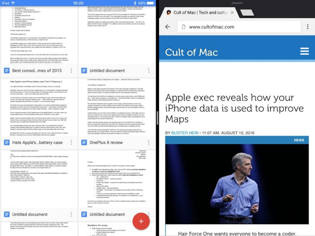 Now Google Docs, Sheets, and Slides Apps For Multitasking Support For iOS