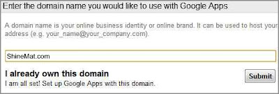 How to setup custom domain email address using gmail