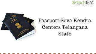 Passport Seva Kendra Centers Telangana State