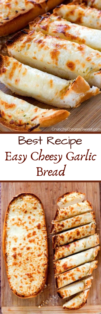 Easy Cheesy Garlic Bread #dinnerrecipe #food
