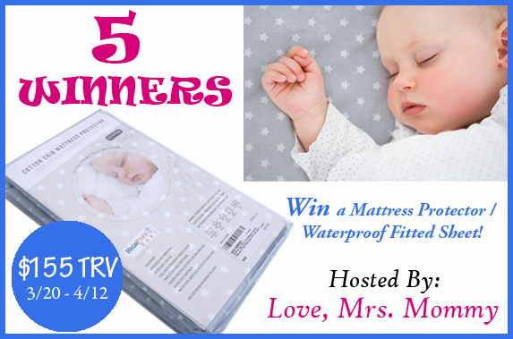 HighFive Easy Mattress Protector Giveaway banner