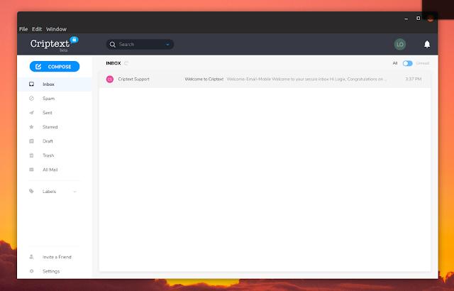Criptext desktop app