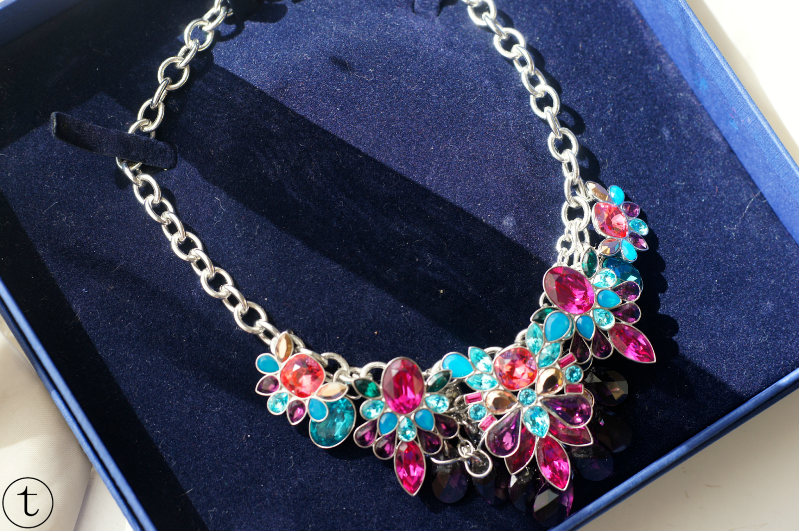 swarovski cardinal necklace spring summer collection crystal garden