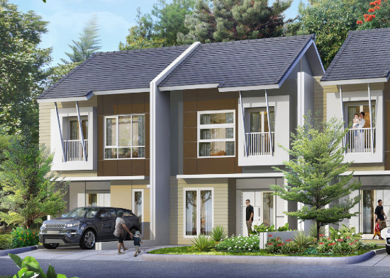tampka depan rumah minimalis ukuran 7x13 meter 3 kamar tidur 2 lantai