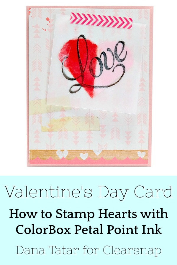 Valentine's Day Card with Stamped and Embossed Petal Point Heart