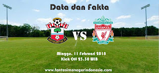 Data dan Fakta Fantasy Premier League GW 27 Southampton vs Liverpool Fantasi Manager Indonesia