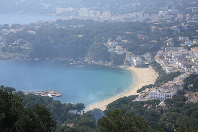 Llafranc beach from San Sebastià Lighthouse