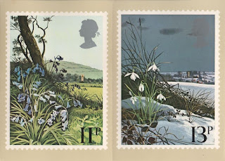 bluebell and snowdrop stamp cards