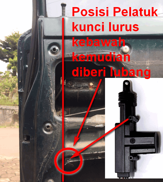 pasang central lock