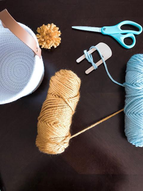DIY Pom Pom Basket Supplies