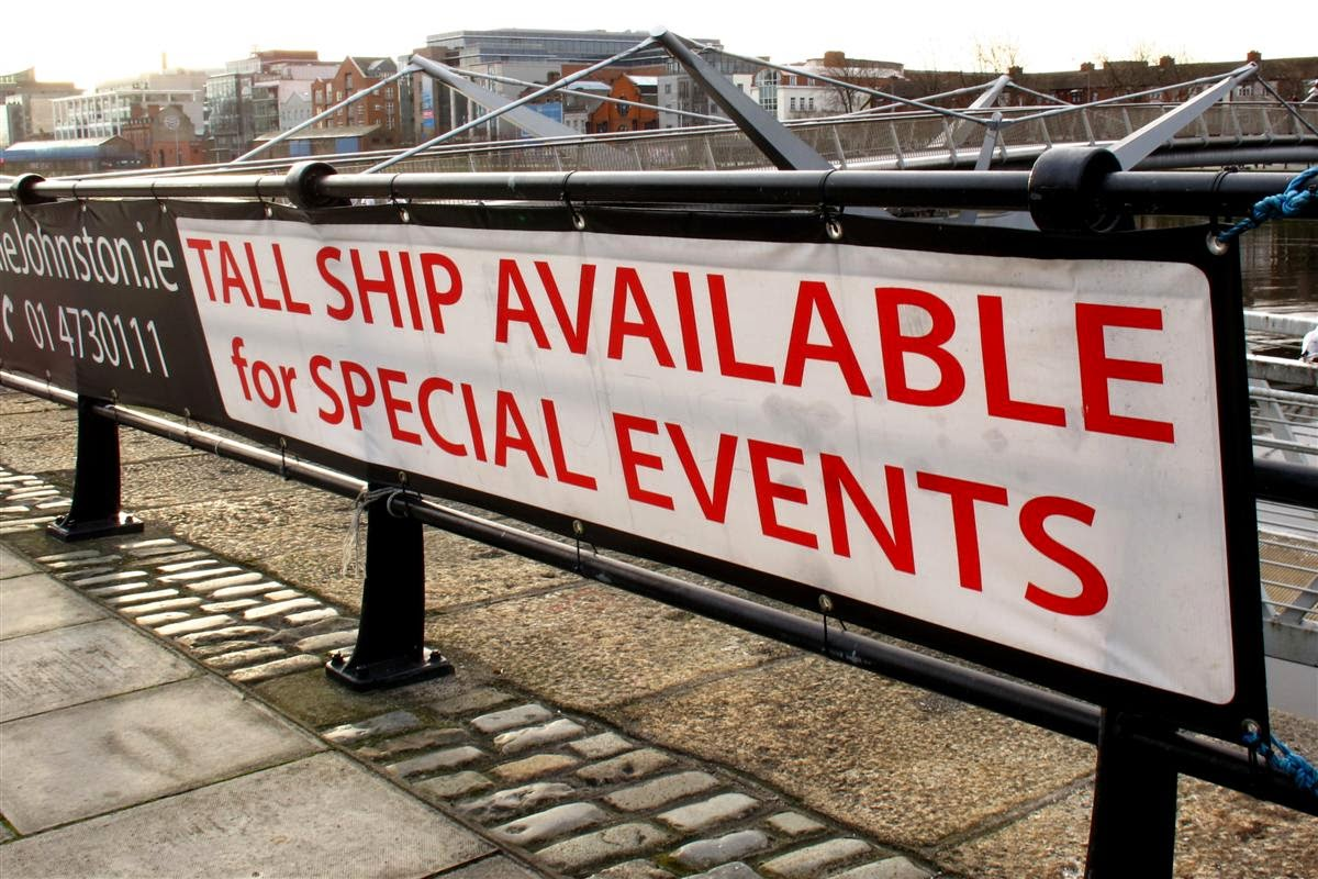 sign, tall ship available,
