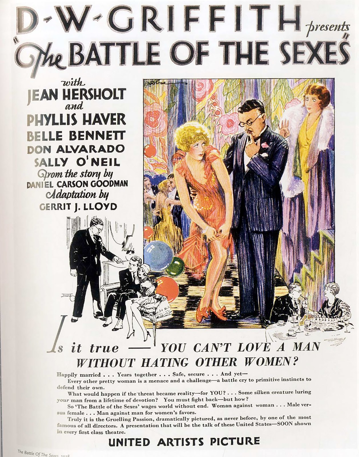 The Visual Primer Of Advertising Cliches Autoette 24 Volt Wiring Diagram Film Battle Sexes Dwgriffith 1928 You Cant Love A Man Without Hating Other Women