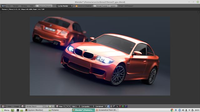 Review Aplikasi 3D Blender dengan Intel i5-8250U dan Nvidia MX150