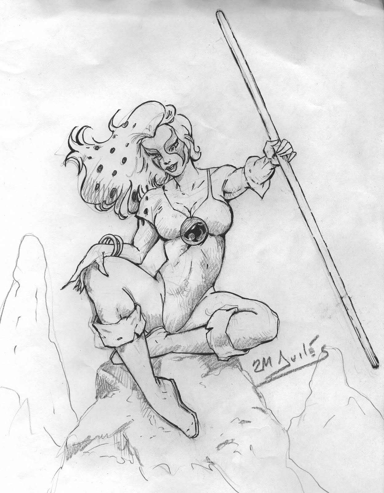 Wily Cat Thundercats Coloring Page