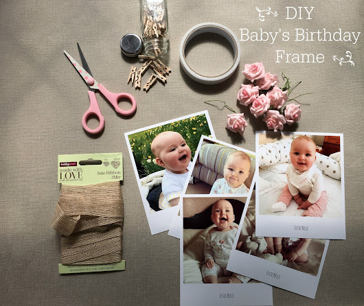 DIY: Baby's First Year Photo Collage