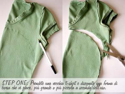 Hacer una bolsa DIY con camiseta o playera vieja