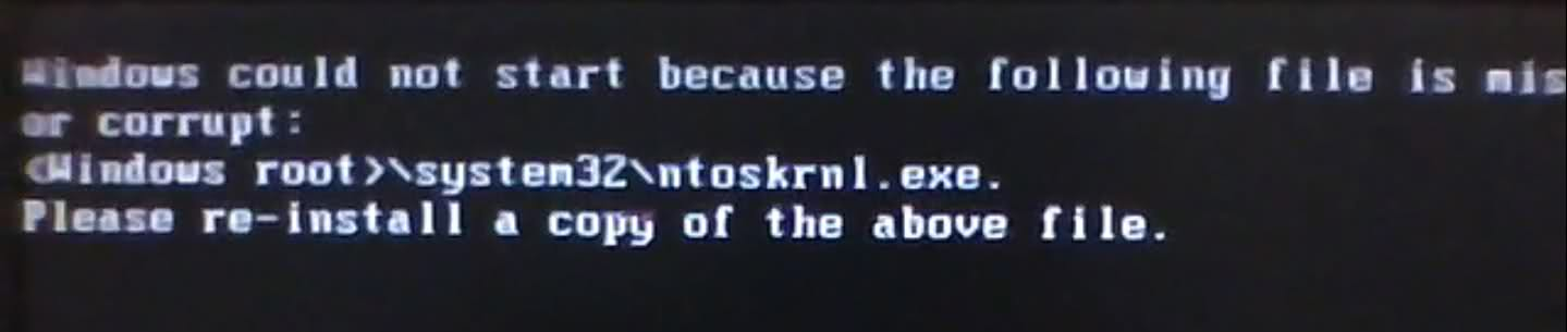 ntoskrnl.exe windows xp