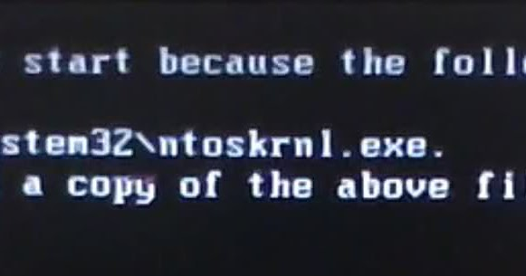 ntoskrnl.exe error windows server 2012