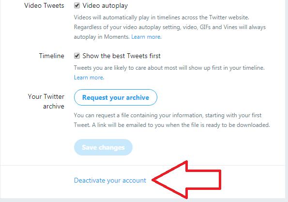 Cara menghapus akun twitter permanen