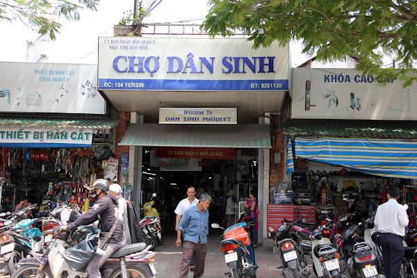 Entrada del Mercado Dan Sinh