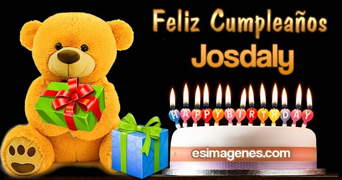Feliz Cumpleaños Josdaly
