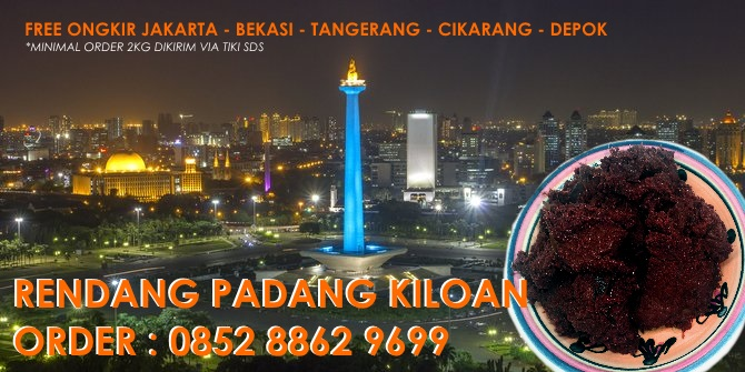 Jual rendang padang kiloan Jakarta
