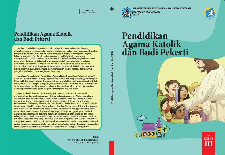Download Gratis Buku Guru dan Buku Siswa Pendidikan Agama Katolik dan Budi Pekerti SD Kelas 3 Kurikulum 2013 Format PDF